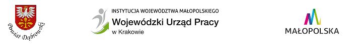 Logo Powiatu Dąbrowskiego i Wojewódzkiego Urzędu Pracy w Krakowie